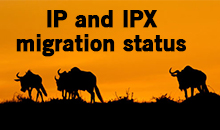 IP and IPX migration status