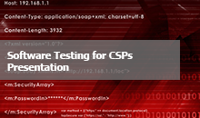 Software Testing for CSPs